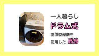 一人暮らしでドラム式洗濯乾燥機を使用した体験談。デメリットやおすすめの選び方も紹介